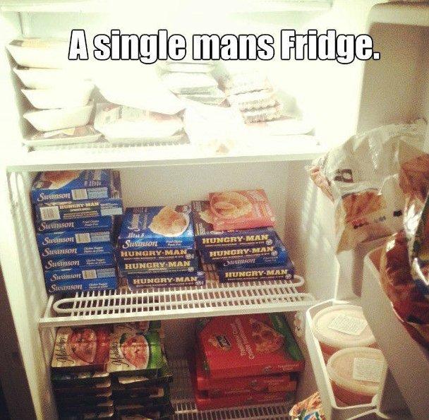Single mans fridge
