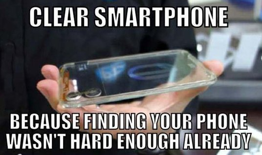 The new clear smartphone