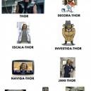 The powerful warrior Thor
