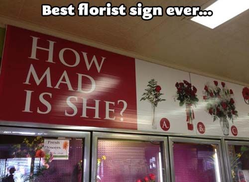 Best Florist Sign Ever