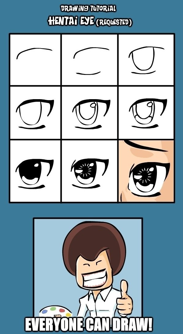 Drawing Tutorial for a Hentai Eye