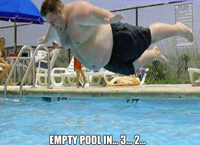 Empty Pool In 3… 2…