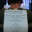 Epic Do Not Disturb Sign