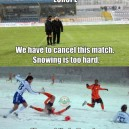 Footbal in the winter