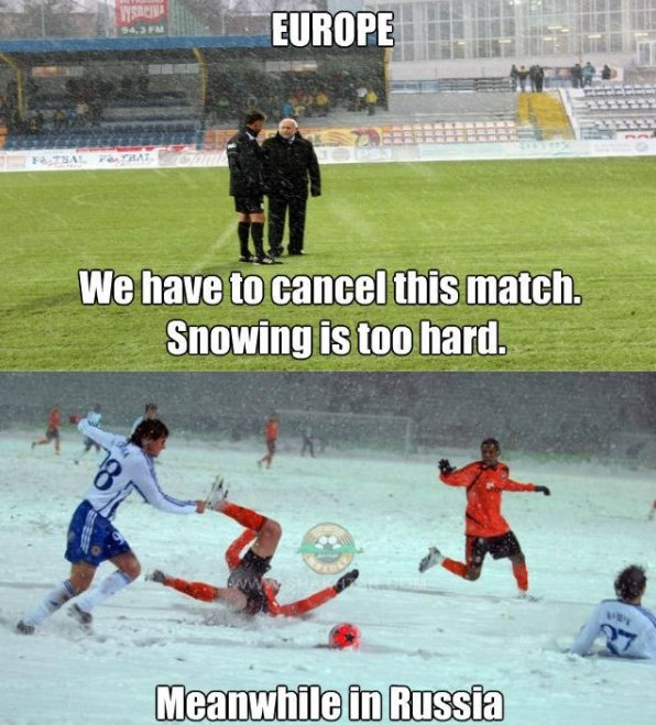 Footbal in the winter