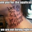 Good luck getting a job…