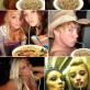 How To Make The Duck Face Pose Look Normal. Just add spaghetti!