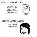 Impressing Boys vs. Girls