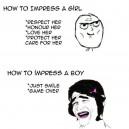 Impressing Boys vs. Girls