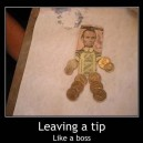 Leaving a tip