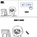 Liking profile pictures