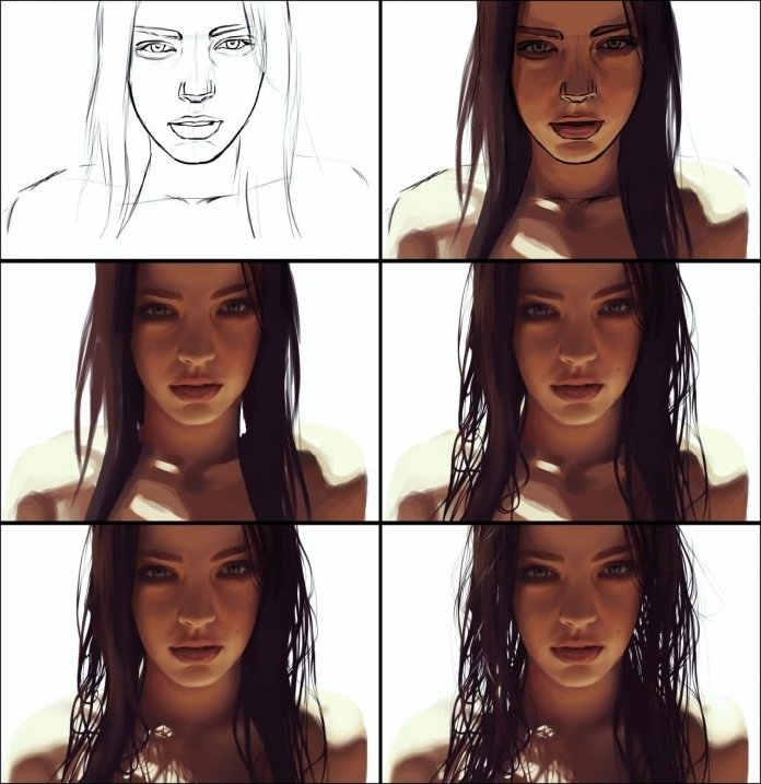 Perfect drawing of a woman