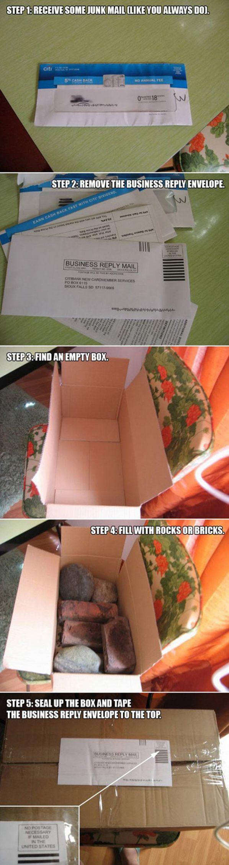 Solve junk mail problems