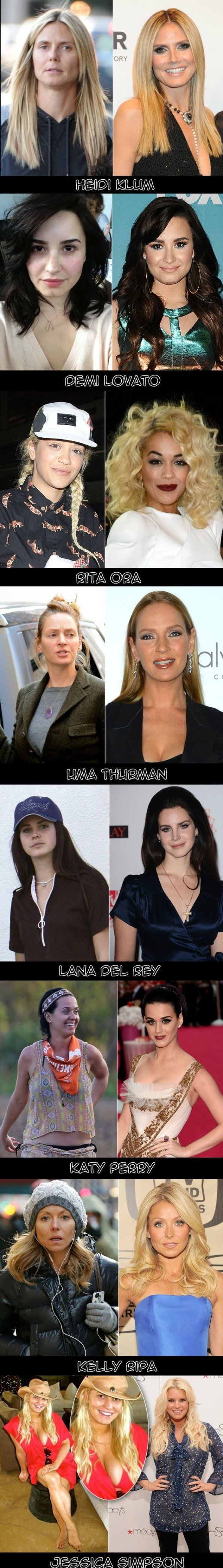 Some Celebrities Without Makeup