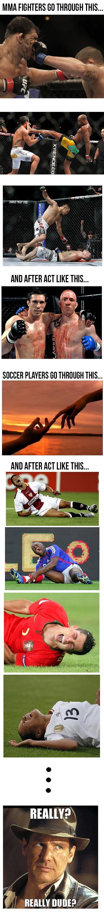 Fighters vs. Soccer Players