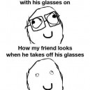 Glasses on vs. off