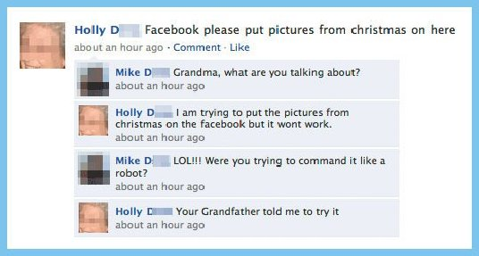 Grandma and Facebook