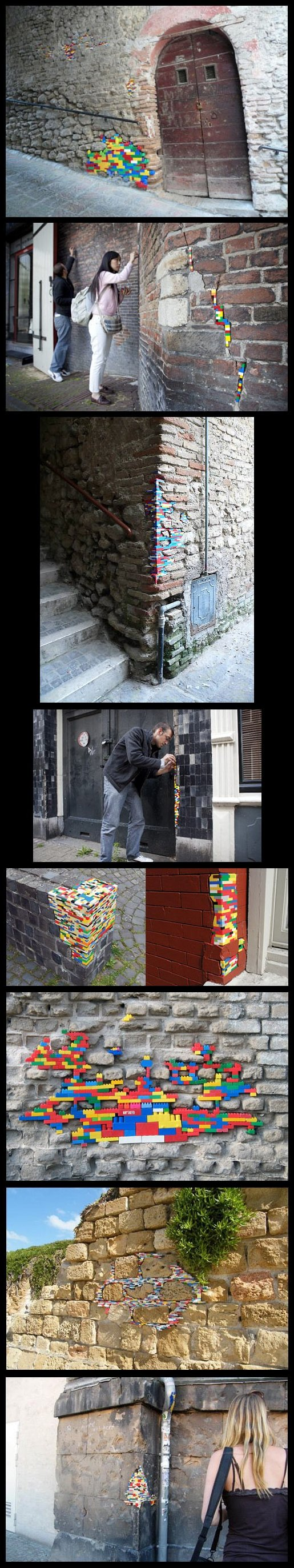 Patching up walls with LEGO