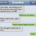 SMS from Grandma