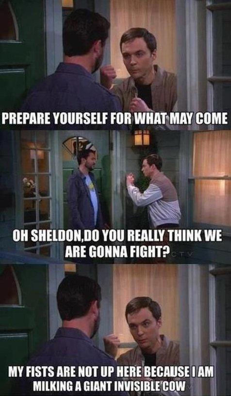 Sheldon Cooper is angry