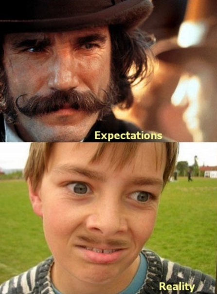 When I try to grow a mustache