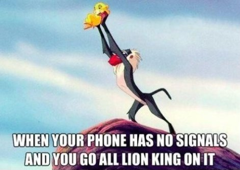 When Your Phone Has No Signal