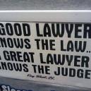 A good lawyer…