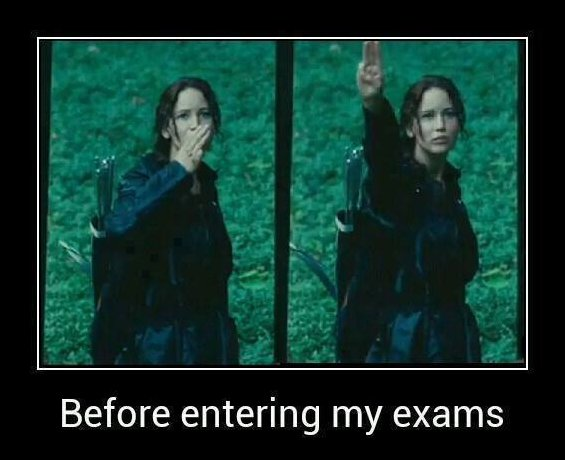 Before entering the exams