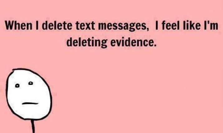 Deleting text messages
