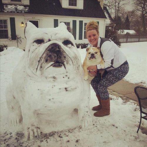 Epic Snowman Bulldog