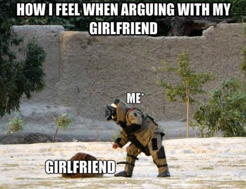 Funny Meme For Your Girlfriend : Fighting with my girlfriend