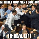 Internet Comment Section IRL