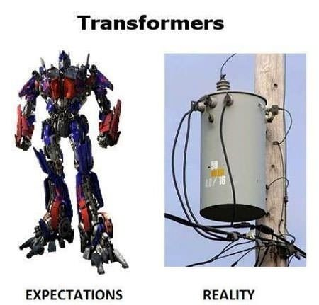 Transformers. Expectation vs. Reality