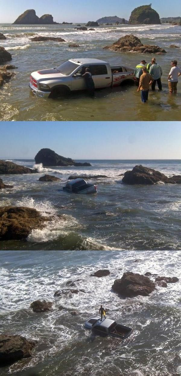 Why You Shouldn't Park on the Beach!