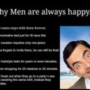 Why men are always happy