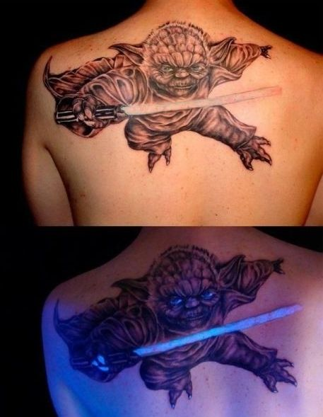 Awesome Glow In The Dark Tattoo!