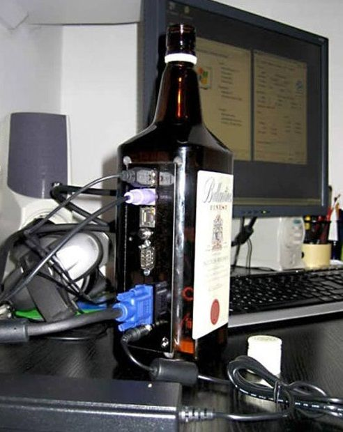 Computer Whiskey Bottle