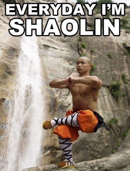 Everyday I'm Shaolin!