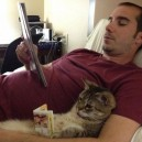 Guy and Cat Read Together