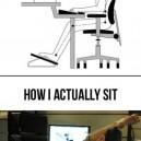 How I sit