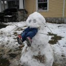 Hungry Snowman Eats Human