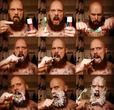 Manly Tooth Brushing