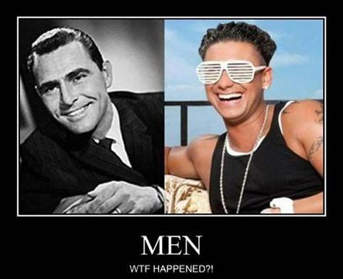 Men Then and Now