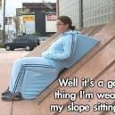 Slope sitting suit