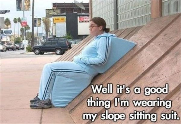 Slope sitting suit