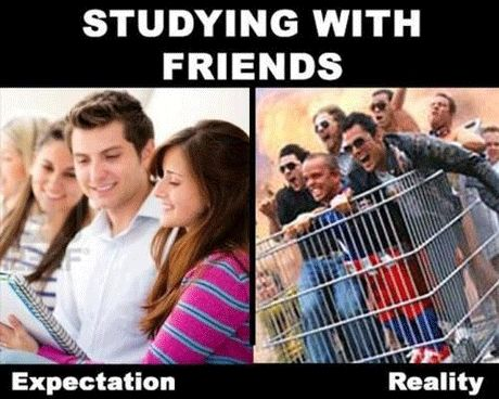 Studying with friends