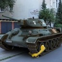 Tank Illegally Parked