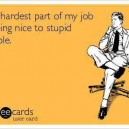 The hardest part of my job