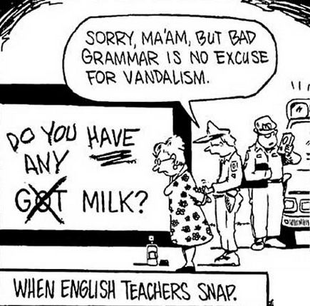 When English Teachers Snap