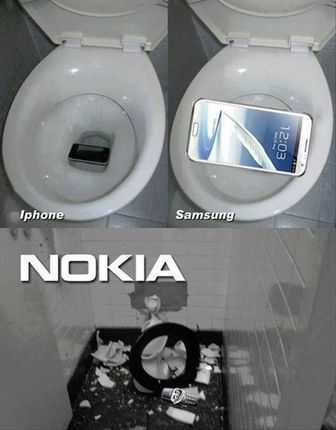 iPhone Samsung and Nokia